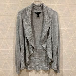 White house black market gray wool blend cardigan